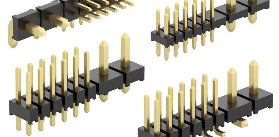 Raster kombinovaných kolikových líšt pre prenos výkonu a signálu